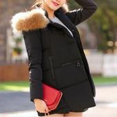 пуховик женский   ХИТ  мех енот куртка зимняя термо парка комбинезон, сникерсы сапоги дубленка шапка