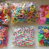 Детские маленькие резинки для волос от 0,50 грн, 6 видов, 35 цветов