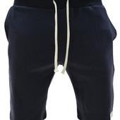 Стильные спортивные шорты из эластичные Темно-синий. Производства Украина