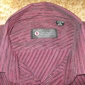 Рубашка мужская 100% коттон с длинным рукавом классическая