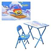Детская парта DT 18-3 – столик со стульчиком Спанч Боб
