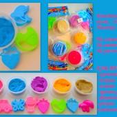 Набор для творчества (кинетический песок, 3 формочки). Цвет песка на выбор победителя.