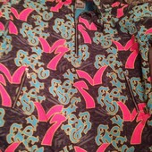 Яскрава куртка- вітровка універсальна на лижі XXL