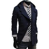 Мужское кашемировое пальто с капюшоном