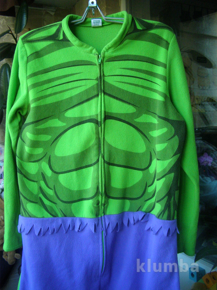 Флисовая  пижама халк, для  настоящего мужчины, тепло и героично,марвел фото №1
