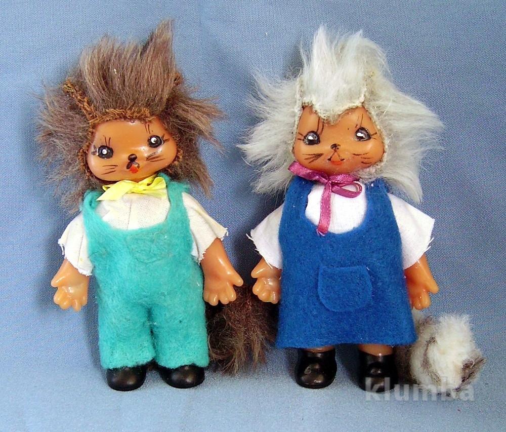 Кукла немецкая гдр коллекционная - котята - 12 см фото №1