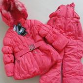Зимний комплект куртка(+ жилетка) +комбез