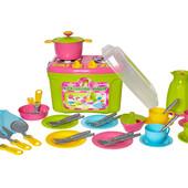 Кухня Кухонный набор 9 посуда игрушечная в чемодане Технок 3596