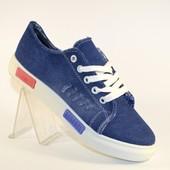 Синие джинсовые кеды 707 (2 цвета)