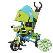 Лунтик велосипед детский трехколесный LT 0066-01 колеса пена