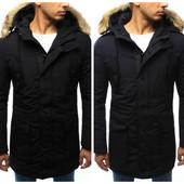 Мужская удлиненная зимняя куртка парка