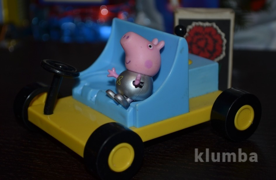 Джордж космонавт и луноход фигурки пеппа пиг peppa pig свинка пеппа фото №1
