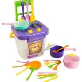 Набор игрушечной посуды столовый Ромашка с плитой 25 элементов   39153