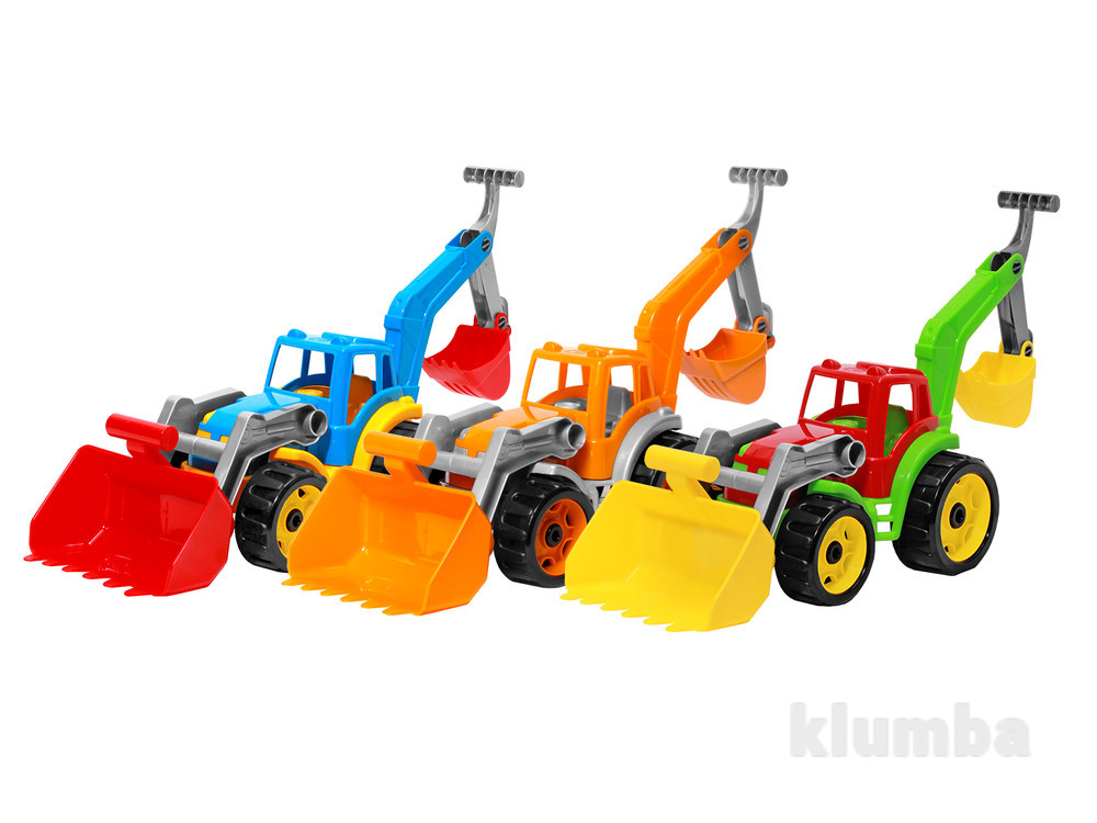 Трактор з двома ковшами технок, арт.3671.новинка! фото №1