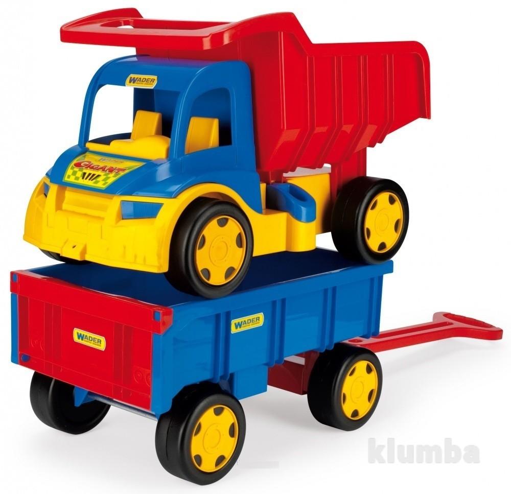 Большой игрушечный грузовик Гигант + тележка  65100 фото №1