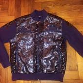 кардиган-куртка мужской Off р-р ХХL(52-54) черный с лаком