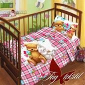 Постельные комплекты в детскую кроватку, полуторные. Ренфорс, бязь, поплин.