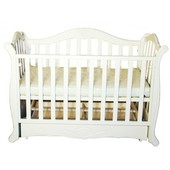 Детская кроватка Twins Павелик шарнир/подшипник белая.
