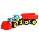 Трактор з причепом ТехноК, арт. 3442 і з ківшом і причепом 3688