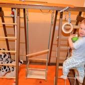 Деревянный детский спорткомплекс - полный комплект до 10 лет