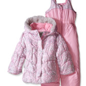 Акция -бесплатная доставка! Теплый комбинезон Zero Xposur на девочку 3-4года в наличии Нежно-розовый
