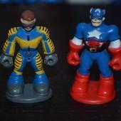 Разные фигурки человечки супер герои для разных наборов и домиков