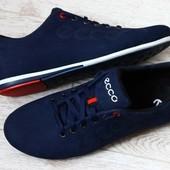 Туфли кроссовки ботиночки ЕССО нубук синие
