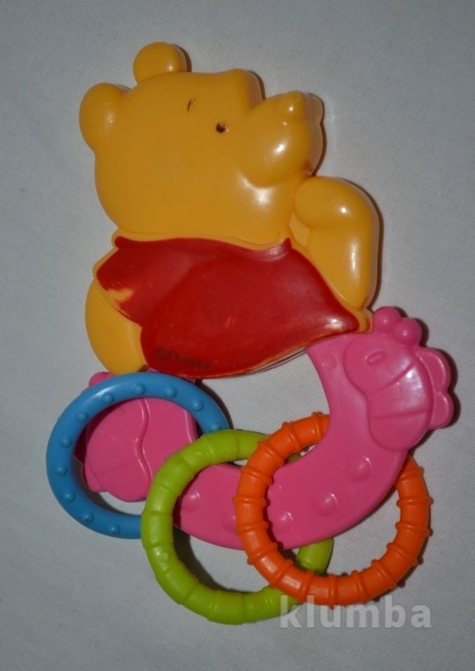 Яркая фирменная погремушка прорезыватель развивающая для деточек винни пух дисней фото №1