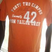 Фірмова футболочка реглан кофта  довгий рукав Tom Tailor.