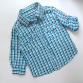 Рубашка Early Days в клетку (6-9 мес.)