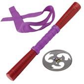 Набор игрушечного звукового оружия серии Черепашки - Ниндзя -Донателло (шест-бо, сюрикен, бандана)