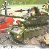 Конструктор Brick Военный танк 823
