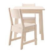 Стол квадратный, белая береза