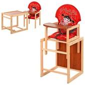 Виваст Найкраща MV 010 стульчик для кормления трансформер Vivast столик и стульчик