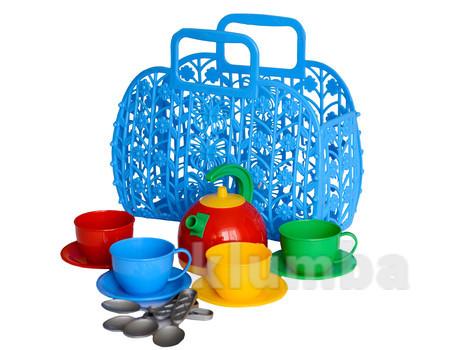 """Іграшка """"кошичок з набором посуду технок"""" арт.1608 фото №1"""