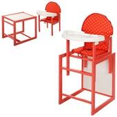Виваст 100К стульчик для кормления трансформер Vivast деревяный стол