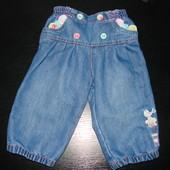 джинсы George 6-9 мес(до 12 мес отлично) в отл. состоянии