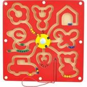 Детская деревянная игрушка лабиринт Фигуры с шариками Руди