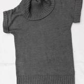 H&M. Тяжёлое, тёплое платье крупной вязки с воротником хомут.