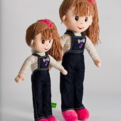 Лялька Ксюша, кукла Ксюша мягкая игрушка ТМ Левеня