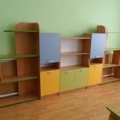 стенка для игрушек в детский садик