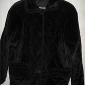 Теплая  велюровая куртка