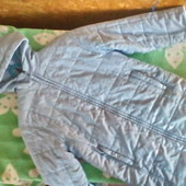 Теплое стеганное демисезонное пальто  Mini Stars для девочки 4 -6 ЛЕТ ( 116 -122) сост новой вещи