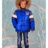 """Детская зимняя куртка для мальчика """"Бруклин"""" (4 расцветки)"""