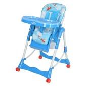 Бемби 002 стульчик для кормления высокий Bambi на колесиках