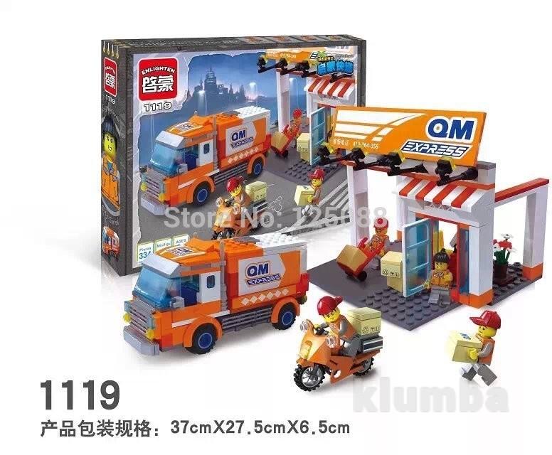 Конструктор brick 1119 машина, брик почта фото №1