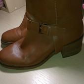 кожаные ботинки оригинал stradivarius
