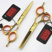 Проф. парикмахерские ножницы Kasho  золотые