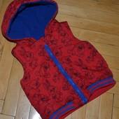 9 - 12 месяцев 74 - 80 см Обалденно модная фирменная Красивенная теплая жилетка жилет