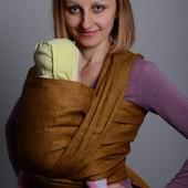 Слинг-шарф тмНаш слинг Ёлочка Бронза саржевый для новорожденных и старше